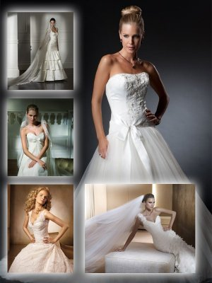White wedding and evening dresses (part two)