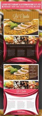 Luxury Restaurant & Catering Flyer PSD Template