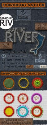 Embroidery and Stitching Photoshop Creation Kit 699024
