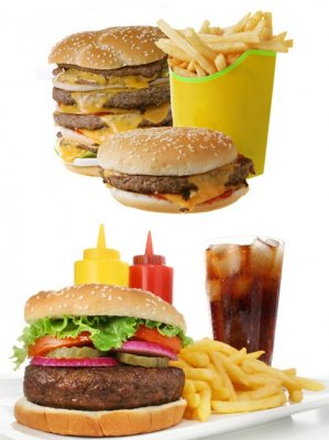 Fast food: hamburger, pizza, burritos, cola, french fries, etc. (part 3)