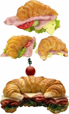 Croissant sandwich from the (collection of images)