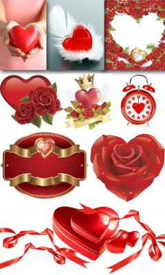 Heart - a large collection of raster Clipart