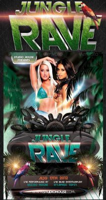 Jungle Rave Party Flyer 264877