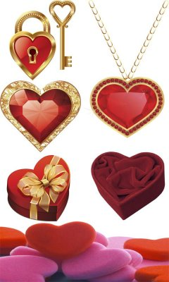 Heart - a large collection of raster Clipart (second part)