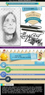 Art Hand Drawing 74 – Portrait Art Drawing 1
