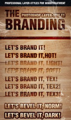The Branding Text Styles & Layer Styles