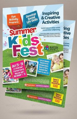 Kids Summer Camp Flyers 768529