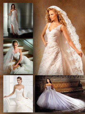White wedding and evening dresses (part three)