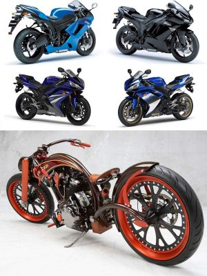 Selection raster motorcycles