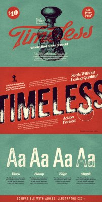 Timeless - Actions for Illustrator