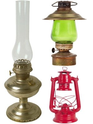 Kerosene lamp (collection of images)