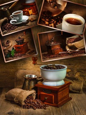 Coffee and coffee beans - a compilation Clipart (second part)