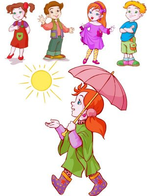 A selection of children vector
