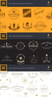 53 Brand-New Vector Badges