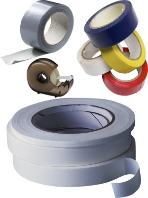 Adhesive tape, double sided tape, transparent tape