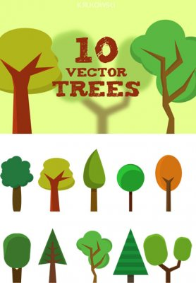 10 vector trees
