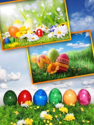 Easter eggs, baskets and bunnies (the images)