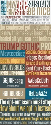 Trump Gothic Pro Font Family