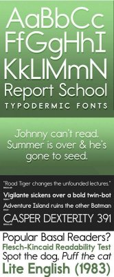 Report School Font Family