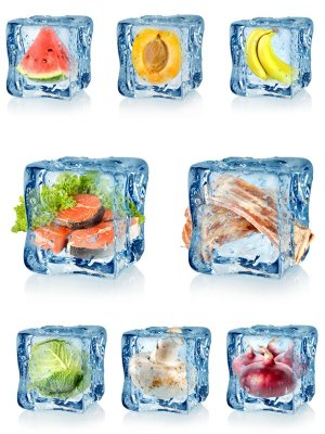 Frozen foods (fish, meat, vegetables, fruits)
