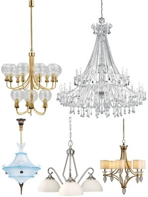 Chandelier, ceiling lamp (selected images)