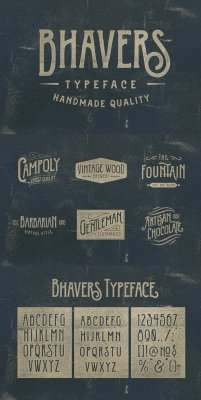 Bhavers Typeface font