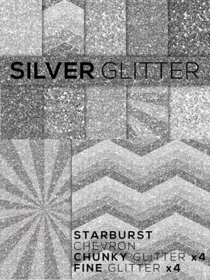 Silver Glitter Textures