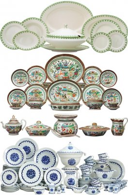 Dinner set: A set of dishes (the images)