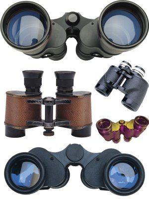 Optics: Binoculars (transparent background)