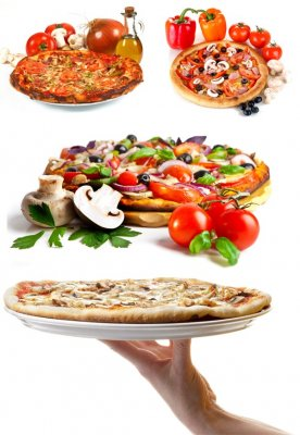 Appetizing Pizza (selection raster clipart)