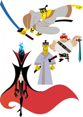 "Cartoon character ""Samurai Jack"" (vector drawing)"