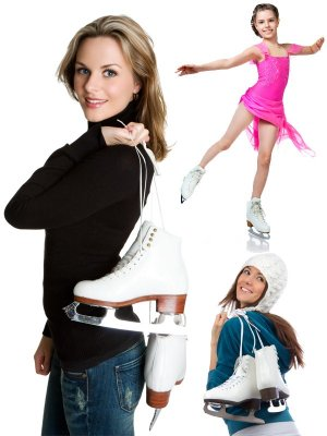 People and skating (figure skating), a selection of images