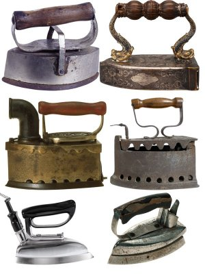 Retro things: Iron (collection of images)