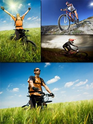 People on bikes, cycling (the images)