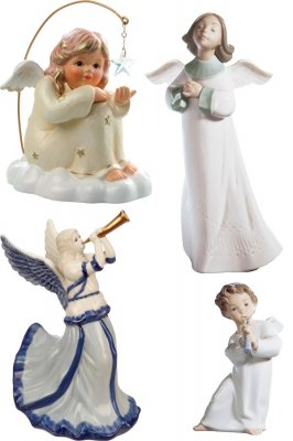 Angels figurines and dolls (transparent background)
