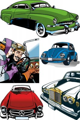 Vehicles vector (collection of images)
