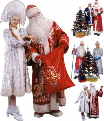Photo stock: Russian Father Frost and Snow Maiden